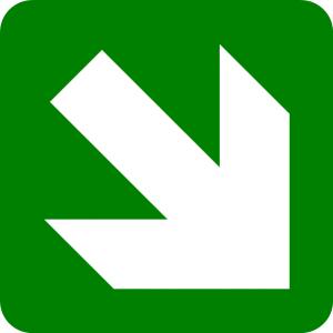 Lurus ke arah kanan bawah
