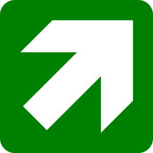 Lurus ke arah kanan atas