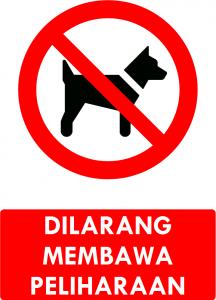 Dilarang Membawa Peliharaan