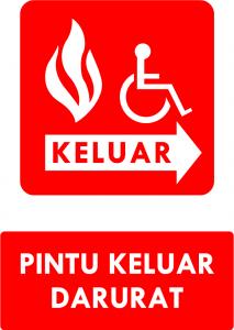 Pintu Darurat Kebakaran DDA Kanan