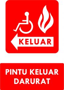 Pintu Darurat Kebakaran DDA Kiri