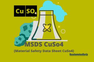 MSDS CuSO4