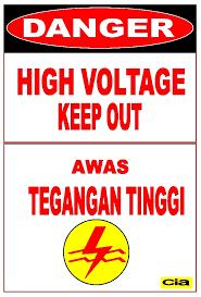 poster k3 listrik awas tegangan tinggi